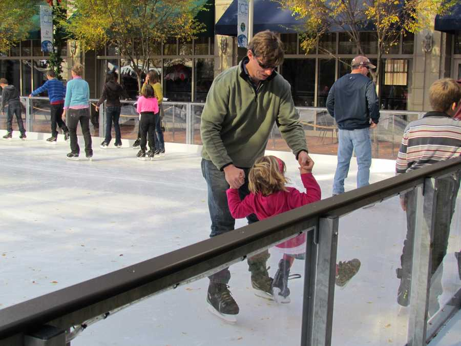Some little skaters needed a hand to stay on their feet and off the ice.
