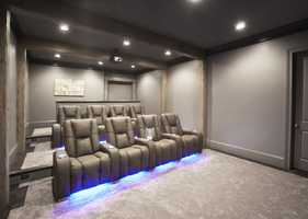 The home features its own movie theater.