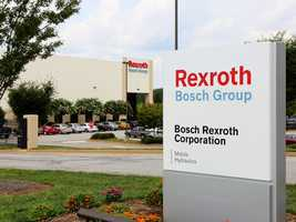 Bosch Rexroth Corporation has 500 employees that produce fluid power pumps and motors.