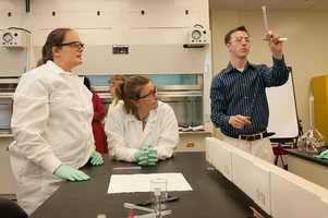 College-level chemistry teachers, $64,130, Positions in Greenville: 110