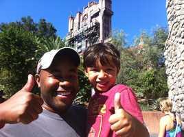 Nigel's favorite family spot is Walt Disney World.