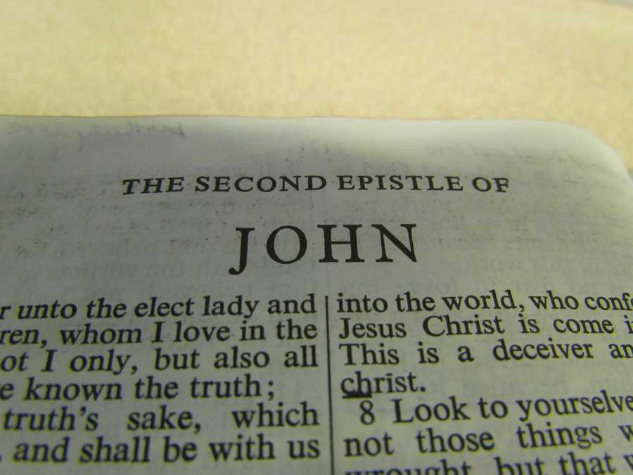 II John has the fewest number of verses of any book in the Bible - it is the shortest book in the Bible.