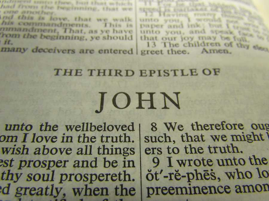 III John has the fewest number of words of any book in the Bible.