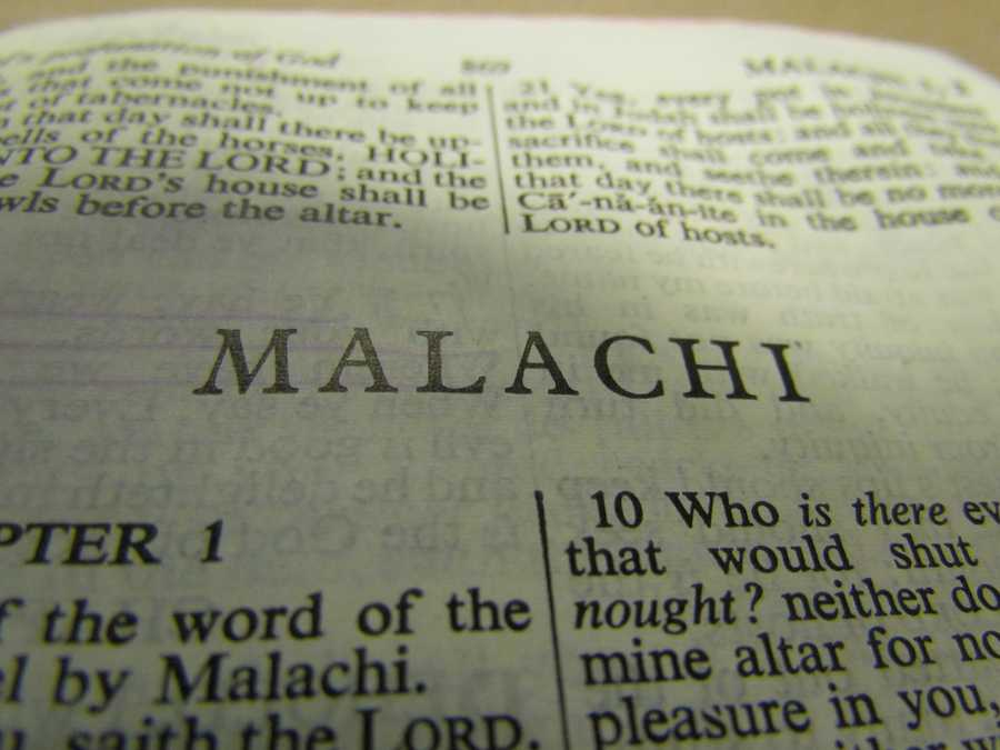 Malachi, written about 400 BC, is the youngest book in the Old Testament.