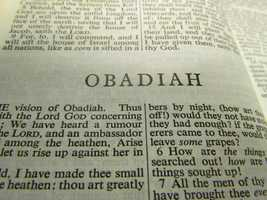 Obadiah, with 21 verses consisting of 602 words, is the shortest book in the Old Testament, and the third shortest in the Bible.