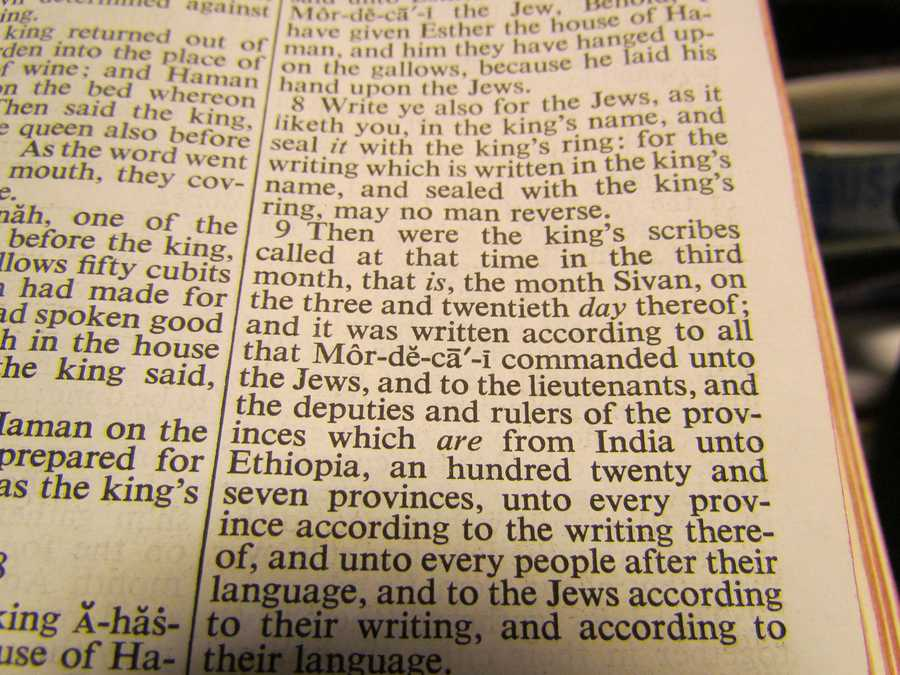 The longest line in the Bible is Esther 8:9 - 89 words, 425 letters.