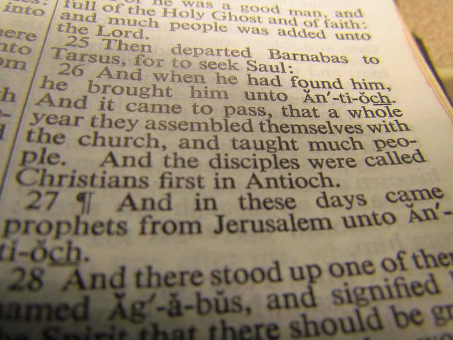 """The word """"Christian"""" appears only three times in the Bible: Acts 11:26&#x3B; 26:28&#x3B; 1 Peter 4:16."""