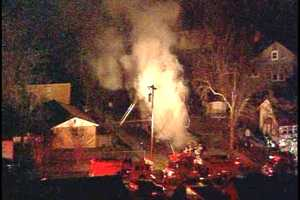 Fire broke out on Jennings Street in Spartanburg early Monday.