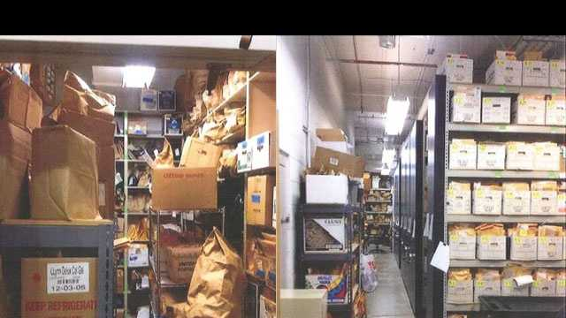 before and after evidence room