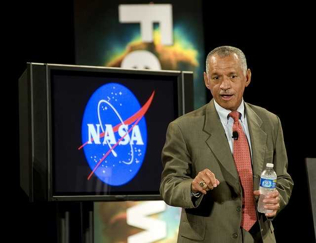Charles Frank Bolden, Jr. (1946- ) Born in Columbia, SC:  Administrator of NASA, Bolden is a retired U.S. Marine Corps general and a former NASA astronaut.  Bolden piloted Space Shuttle Columbia in 1986, the Discovery in 1990 and commanded the Atlantis Spacelab mission in 1992 and the Discovery in 1994 for the historic American-Russian Space Shuttle mission.