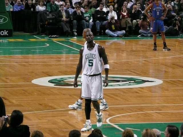 "Kevin Maurice ""KG"" Garnett (1976- ) Born in Mauldin, S.C.:  NBA player&#x3B; power forward and center for the Boston Celtics of the National Basketball Association. After spending 12 seasons with the Minnesota Timberwolves, Garnett was traded to the Celtics in 2007.  In his first year with the Celtics, he helped lead them to their first NBA championship since 1986."