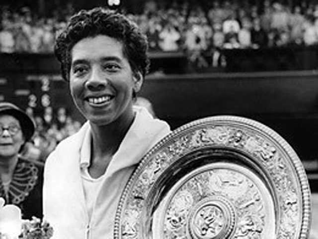 Althea Gibson (1927-2003) Born in Clarendon County, SC: Champion tennis player Althea Gibson was the first African-American woman to be on the world tennis tour, as well as the first to win a Grand Slam title.