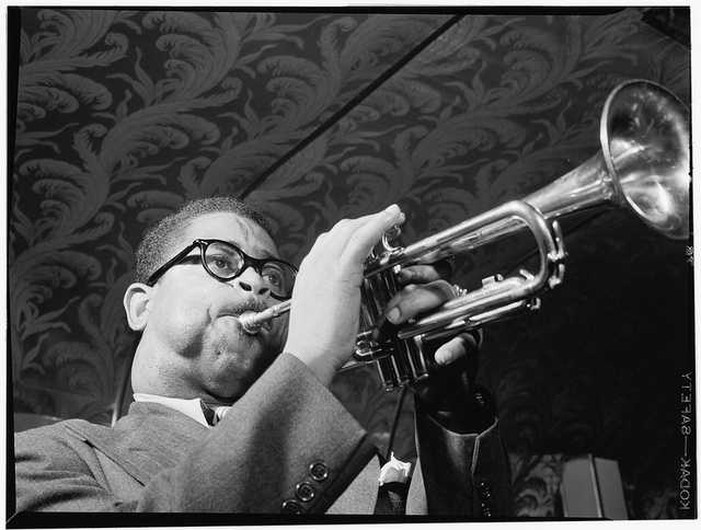 "Dizzy Gillespie (1917-1993) Born in Cheraw, SC:  John Birks ""Dizzy"" Gillespie was a trumpet player, bandleader, composer, occasional singer and American jazz icon."