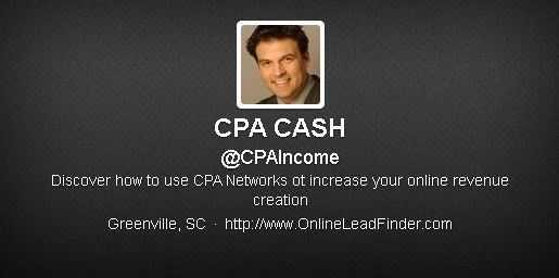 CPA CASH (@CPAIncome): 9,768 followers