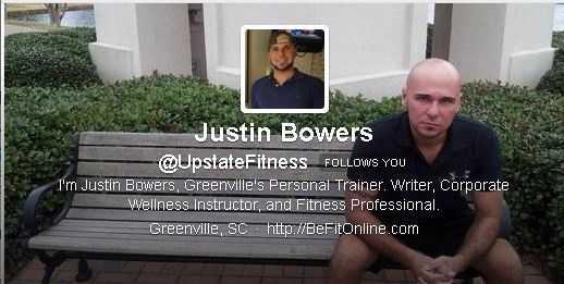 Justin Bowers (@UpstateFitness): 15,055 followers