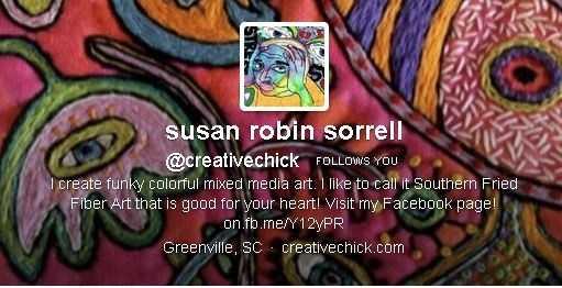 susan robin sorrel (@creativechick): 9,878 followers