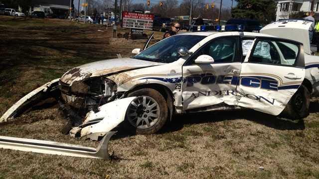 police car wrecks
