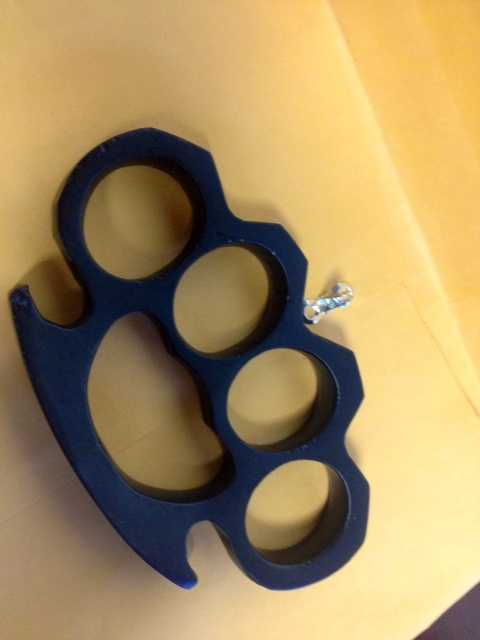 Many people know that brass knuckles are illegal to carry in public, but what other items are illegal to carry in public in Greenville? These knuckles were confiscated by Greenville police. The person who owned these was cited for having an unlawful weapon.