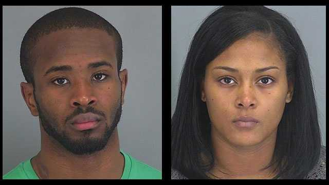 Kashil Hamilton and Ashley Watkins: Accused of assault & battery and other crimes