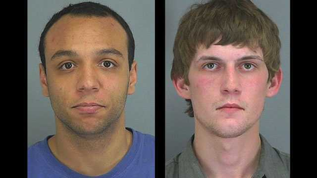 Adam Moore and Joey Whitworth: Accused in dozens of auto break-ins