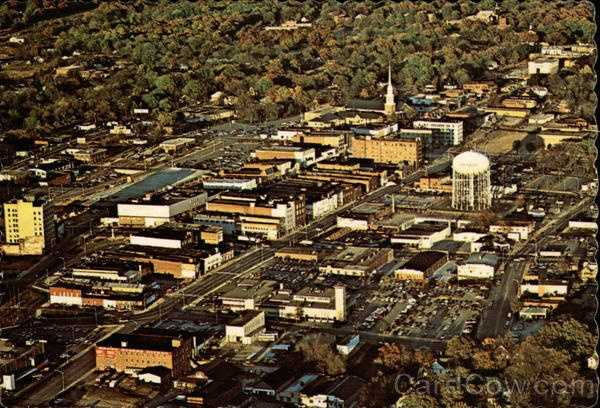 "Aerial view of Spartanburg: Spartanburg is located in the rich, rolling Piedmont section of South Carolina among the foothills of the beautiful Blue Ridge Mountains. The name is derived from the ""Spartan Rifles,"" an area unit of Colonial forces under General Daniel Morgan. It was chartered by the South Carolina Legislature on December 17, 1831"