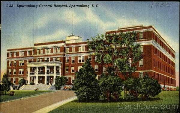 Spartanburg General Hospital, second largest in the state - having more than 300 beds opened August 1921. It is accredited by the American College of Surgeons.