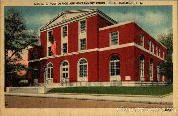 US Post Office and Government Court House (Anderson)