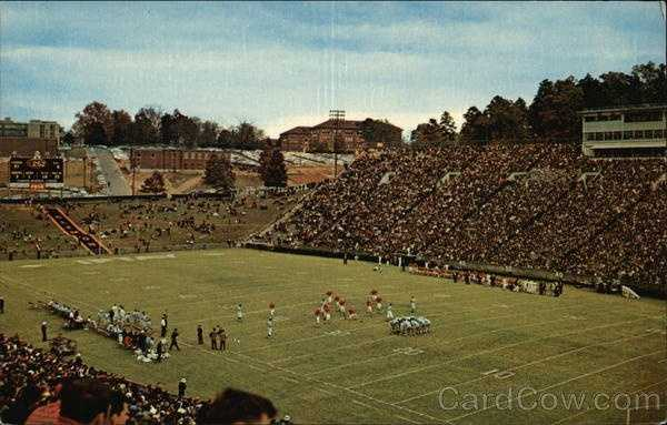 Clemson Memorial Stadium: This University was founded in 1889 as Clemson College and was made possible by the bequest of Thomas G. Clemson. Clemson is coeducational and major degrees are presented in Agriculture, Architecture, Arts and Sciences, Engineering and Textiles