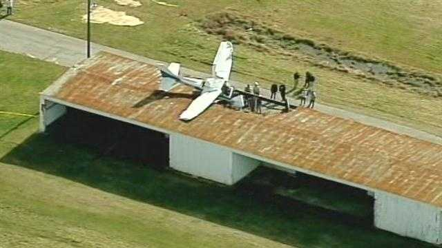 The plane crash at the Hendersonville Airport was reported at about 3:30 p.m.