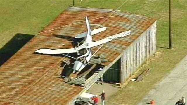 According to Captain Steve Carter of the Henderson County Sheriff's Department, a1975 Cessna 172 was piloted by Andrew Michael Bell, 35 years of age of Zirconia, NC was the single occupant of the aircraft where he sustained minor injury.