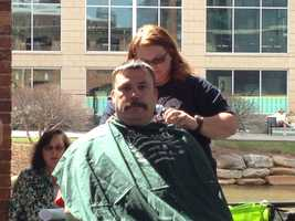 About 150 people in Greenville signed up to lose their locks and show support for children battling cancer. The annual St. Baldrick's Foundation head-shaving event took place at Larkin's on the River on Sunday.