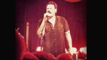A ulocal member uploaded these pictures from the Blake Shelton free concert in Greenville Thursday night.