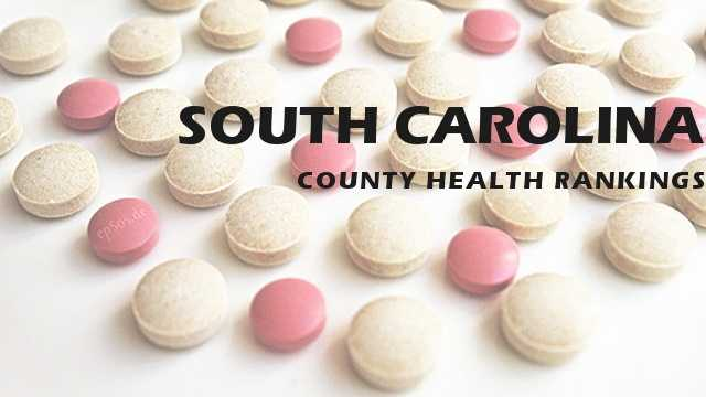 The counties are ranked from the healthiest to the least healthy county in South Carolina. You might be surprised by your county's ranking.