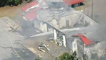 Fire broke out at the Ekom Beach Fire Department at about noon Thursday.