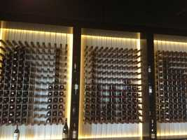 This wine wall is built to hold 1 thousand bottles of wine.