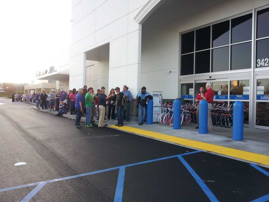 Hundreds of people stood in line at the new Academy Sports in Anderson Friday.