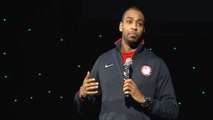 Olympic gold medalist cheers on health summit