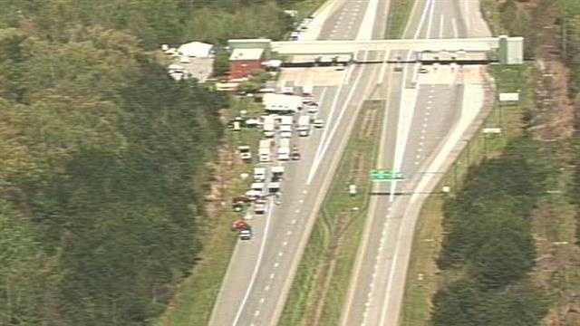 The toll road is closing to make way for a TV crew.