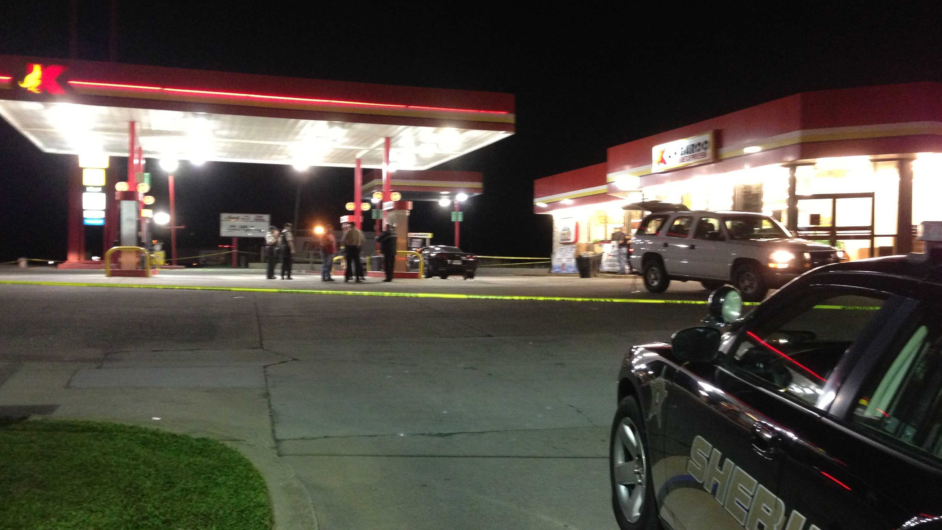 gas station shooting