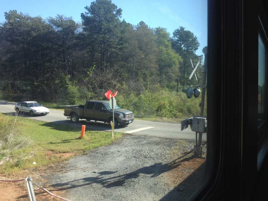 SC Highway Patrol and local enforcement agencies placed officers at crossings along the route from Greenville to Charlotte and return. Officers in the head engine alerted officers in patrol cars shadowing the train to motorists violating grade crossing laws.