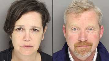 Kelly and Brian McSharry:  Accused of letting underage kids drink at their house