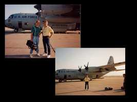He even got the chance to fly with hurricane hunters during Hurricane Emily in 1993.