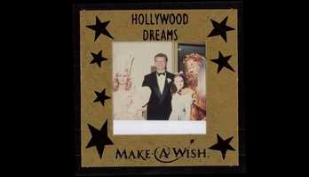 """John's favorite movie as a child was """"The Wizard of Oz."""" This picture was from a Make-a-Wish event where John was the MC."""