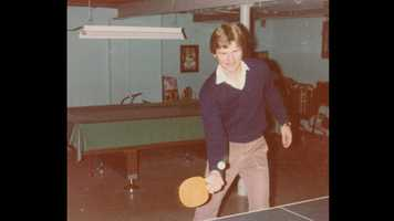 He has always enjoyed playing competitive ping-pong with his 3 brothers. They still play when they get together for holidays.