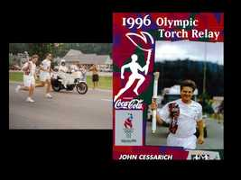 John was honored to carry the Olympic torches in 1996 and 2002.
