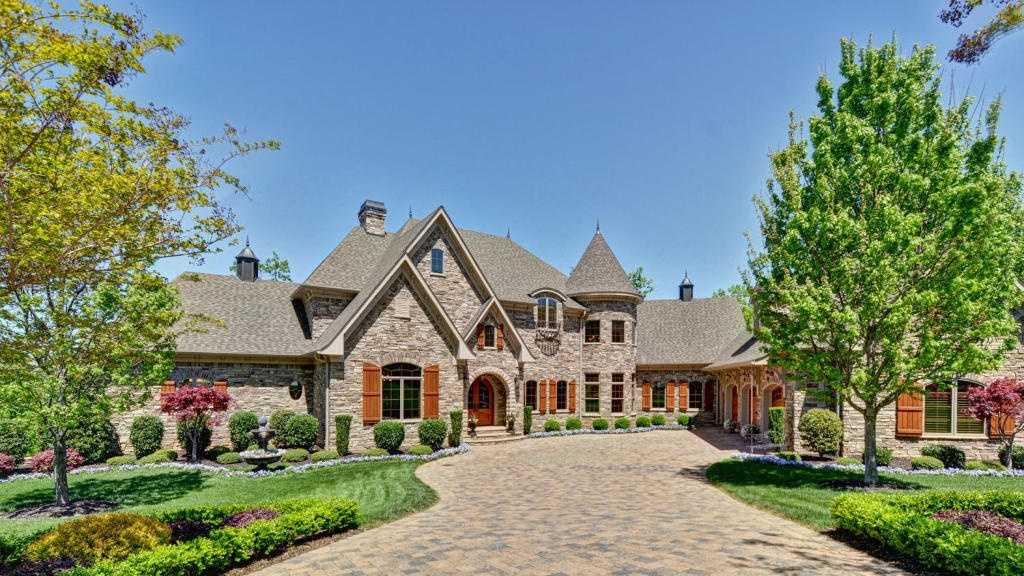 This European-style estate home has 8,400 heated square feet and 13,246 total. It is listed for sale on Realtor.com.