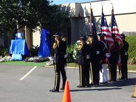 The Spartanburg County Sheriff's Office held a re-dedication service for the monument honoring fallen deputy, Kevin Carper. Click HERE to read more about Carper.
