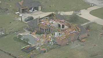 Parts of North Texas have been slammed by tornadoes with at least six people killed. The spring tornado outbreak destroyed or damaged dozens of homes and injured dozens of people. Officials say the death toll could climb as emergency crews search the rubble.