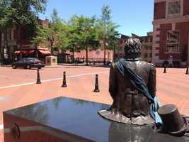 The Greenville Scottish games and Gallabrae experience are taking place in downtown Greenville this weekend. The statues and mice in downtown Greenville decided to dress up for the festival.