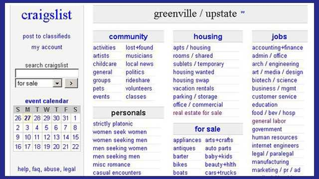 Lovely Craiglist Customers Ambushed After Responding To Ads Inside Craigslist Greenville